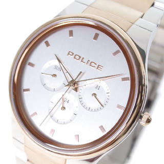 ポリス(POLICE)のポリス POLICE 腕時計 メンズ クォーツ シルバー ピンクゴールド(腕時計(アナログ))