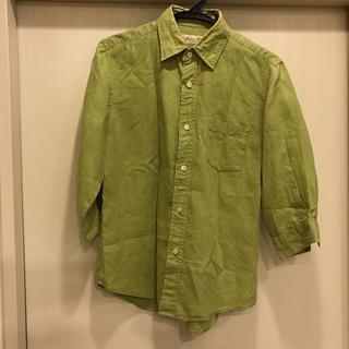 ジャーナルスタンダード(JOURNAL STANDARD)のジャーナルスタンダード グリーンシャツ 7部袖 リネン100% 美中古(Tシャツ/カットソー(七分/長袖))