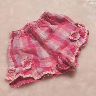 シャーリーテンプル(Shirley Temple)のシャーリーテンプル ギンガムチェック 80cm ショートパンツ ピンク(パンツ)