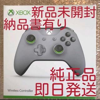 エックスボックス(Xbox)のXbox ワイヤレス コントローラー 純正 (グレー/グリーン)(家庭用ゲーム機本体)