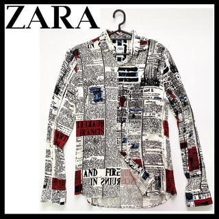 ZARA - 美品 ZARA デザインシャツ 総柄