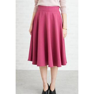 エヌナチュラルビューティーベーシック(N.Natural beauty basic)のカラーフレアミモレスカート(ひざ丈スカート)