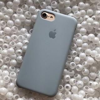 iPhone - 箱なし iPhone8 ミストブルー シリコンケース 純正
