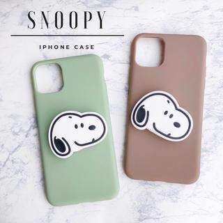 スヌーピー(SNOOPY)の大人気◎新品◆スヌーピー ポップソケットiPhoneケース チャーリーブラウン (iPhoneケース)