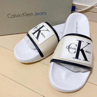 Calvin Klein - カルバンクライン サンダル ナチュラルホワイト
