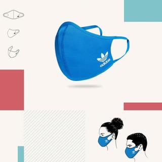 adidas - adidas フェイスカバー XS/S ブルー1枚