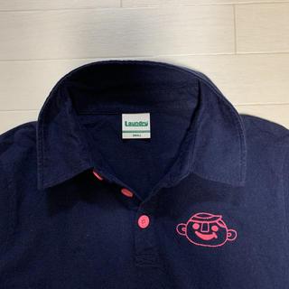 ランドリー(LAUNDRY)の【良品】 Laundry ランドリー ポロシャツ  S  紺 顔刺繍(ポロシャツ)