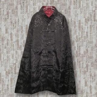 チャイナシャツ black×red reversible M