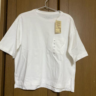 MUJI (無印良品) - 新品 無印良品★ワイドTシャツ M~L 白