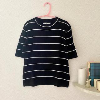 ディーホリック(dholic)のDHOLIC スリムフィットボーダーニットTシャツ(ニット/セーター)