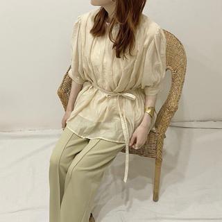 トゥデイフル(TODAYFUL)のSEEK sheer gather blouse(シャツ/ブラウス(長袖/七分))