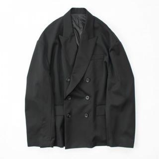 SUNSEA - stein oversized double breasted jacket