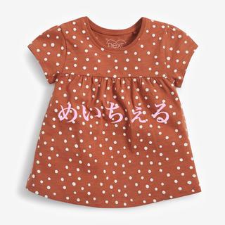 ネクスト(NEXT)の【新品】next ジンジャー 水玉オーガニックコットンTシャツ(ヤンガー)(Tシャツ)