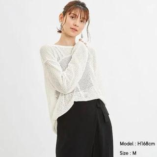 ジーユー(GU)の[だふぃ様 専用]GU ジーユー メッシュオーバーサイズセーター(XL)(ニット/セーター)