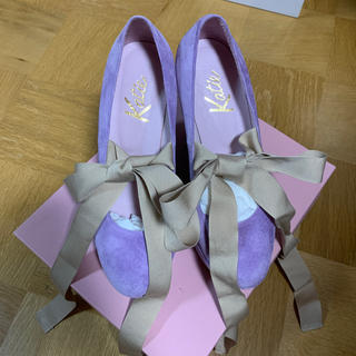 ケイティー(Katie)のKatie FRANCES wedge ballet heel ラベンダー(ハイヒール/パンプス)