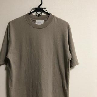 ドアーズ(DOORS / URBAN RESEARCH)のURBAN RESEARCH DOORS 天竺モックネックTシャツ カーキ(Tシャツ/カットソー(半袖/袖なし))
