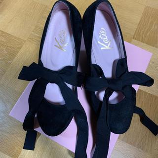 ケイティー(Katie)のKatie FRANCES wedge ballet heel ブラック(ハイヒール/パンプス)