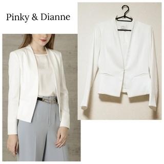 Pinky&Dianne - 【ピンキー&ダイアン】ノーカラー 夏 ジャケット