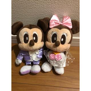 ミッキーマウス - ミッキー&ミニー ぬいぐるみ 値下げ中!