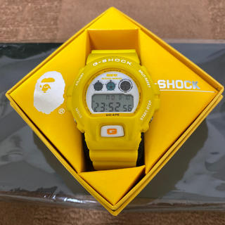 アベイシングエイプ(A BATHING APE)のa bathing ape G-SHOCK 黄色(腕時計(デジタル))