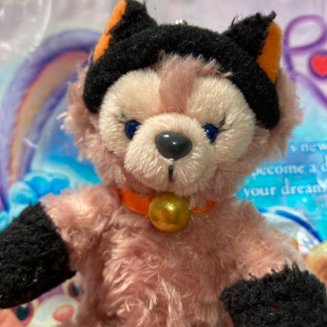Disney(ディズニー)のシェリーメイ ストラップ ハロウィン 黒猫 エンタメ/ホビーのおもちゃ/ぬいぐるみ(キャラクターグッズ)の商品写真