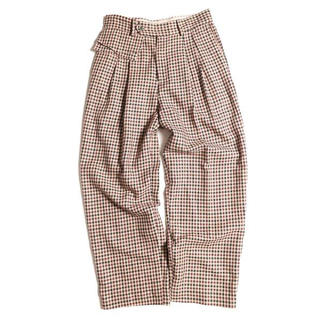 ジエダ(Jieda)のJieDa POCKET GINGHAM SLACKS BROWN CHECK2(スラックス)