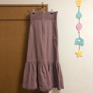 マーキュリーデュオ(MERCURYDUO)のシャーリングローフレアスカート(ロングスカート)