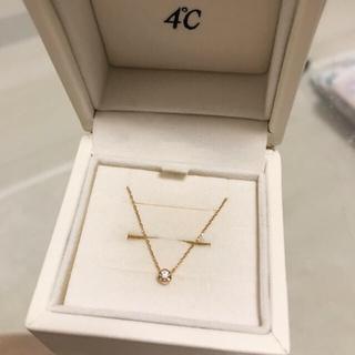 4℃ - オデュース 4℃  k18 一粒 ダイヤモンド ネックレス