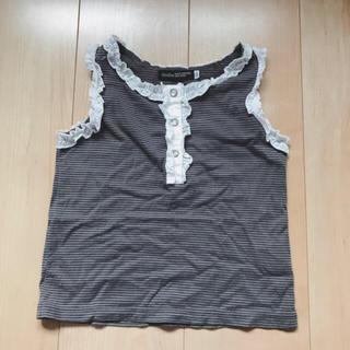 ベベ(BeBe)の美品 べべ BeBe 100 タンクトップ グレー(Tシャツ/カットソー)