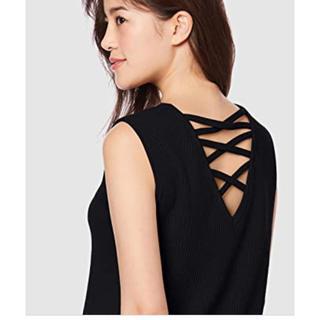 ミラオーウェン(Mila Owen)の編み上げワッフルトップス(Tシャツ(半袖/袖なし))