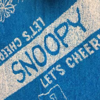 スヌーピー(SNOOPY)の【未使用】SNOOPY 大きめタオルとポーチ(タオル/バス用品)