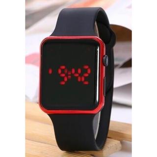 LEDデジタルファッションウォッチ(BLACK)(腕時計(デジタル))