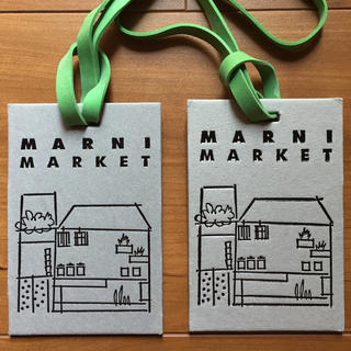 マルニ(Marni)のマルニマーケット タグ 2枚(ショップ袋)