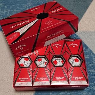 キャロウェイ ゴルフボール クロムソフト 白×赤 1ダース 新品未使用