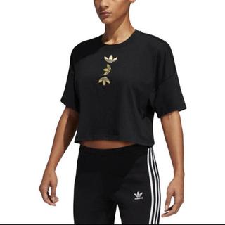 adidas - adidas ラージロゴTシャツ(カラー:BLACK)【Lサイズ】