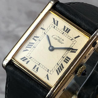 カルティエ(Cartier)の❤決算セール❤ カルティエ 名作 ヴェルメイユ 時計 アナログ レザーベルト 金(腕時計)