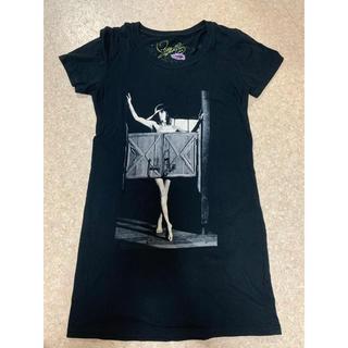 マウジー(moussy)のmoussy 限定 sweetコラボ 梨花フォトTシャツ 黒 ブラック 1 S(Tシャツ(半袖/袖なし))