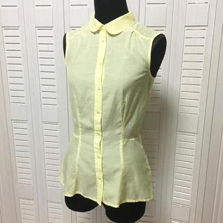 エイチアンドエム(H&M)のノースリーブシャツ(シャツ/ブラウス(半袖/袖なし))
