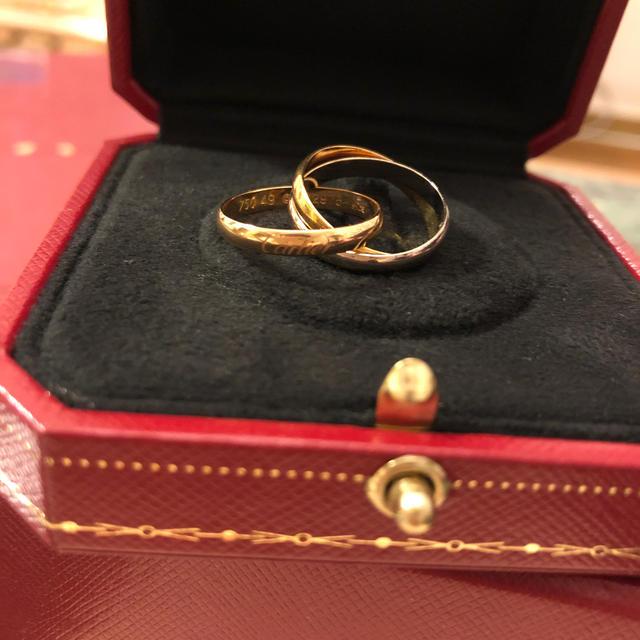 Cartier(カルティエ)のカルティエ トリニティ 3連リング 正規品 8号 レディースのアクセサリー(リング(指輪))の商品写真