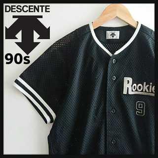 デサント(DESCENTE)の980【90年代製】 デサント ベースボールシャツ 超 ビッグサイズ 90s(ポロシャツ)