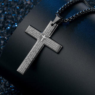 クロス チタン ネックレス 十字架 メンズ (ネックレス)