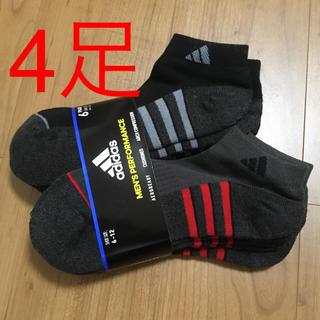 アディダス(adidas)のアディダス メンズショートソックス 4足(ソックス)
