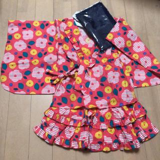 フタフタ(futafuta)の新品タグ付き futafuta 女の子 花柄 浴衣ドレス(甚平/浴衣)