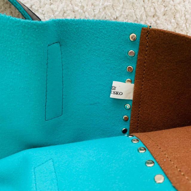 UNITED ARROWS(ユナイテッドアローズ)のRODE SKO♡スタッズ切り替えショルダートート美品 レディースのバッグ(ショルダーバッグ)の商品写真