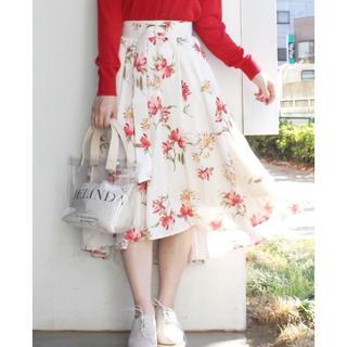 マーキュリーデュオ(MERCURYDUO)の大人気 item ♡ MERCURYDUO ボタニカル フラワー スカート(ひざ丈スカート)