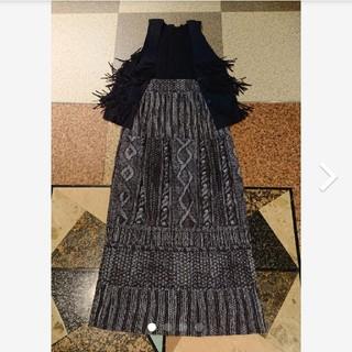プリーツプリーズ 3 ウール柄 毛糸柄 モノクロ転写  スカート イッセイミヤケ