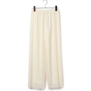 ヴィス(ViS)の裾メロウプリーツパンツ(カジュアルパンツ)