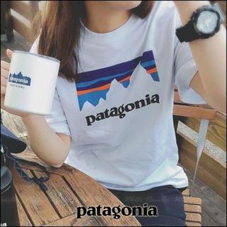 patagonia - patagonia パタゴニアTシャツ 白 ベストセラー かわいい フロントロゴ