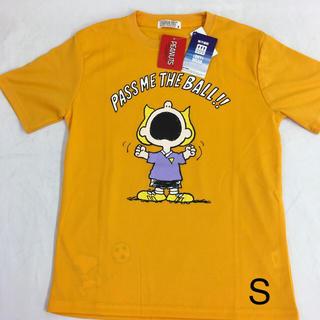 SNOOPY - 新品 スヌーピー  ドライ (吸汗速乾) 半袖Tシャツ S イエロー 送料込
