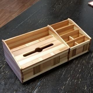 木 ティッシュ ケース 箱無し エコ 小物 リモコン タブレット(その他)
